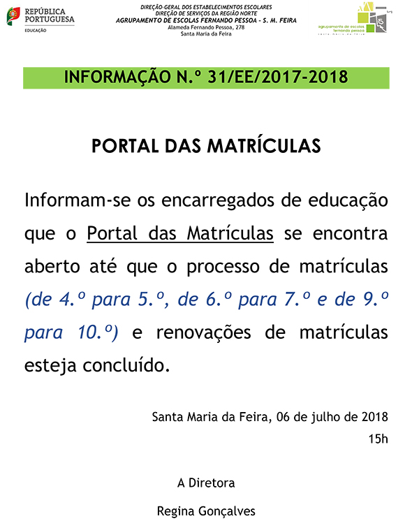 INF 31 EE MATRICULAS 2